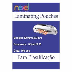 Bolsas de laminação para Plastificação A4 125mic 0.5 220mmx307mm C\100 Unidade