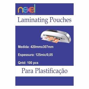 Bolsas de laminação para Plastificação A3 125mic 0.5 420mmx307mm C\100 Unidade