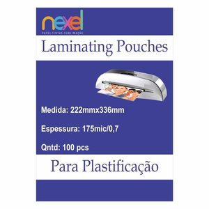 Bolsas de laminação para Plastificação A4  175mic 0.7 220mmx307mm C\100 Unidade