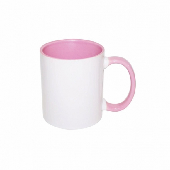 Caneca Color Rosa de porcelana 325ml