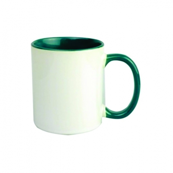 Caneca Color Verde de porcelana 325ml