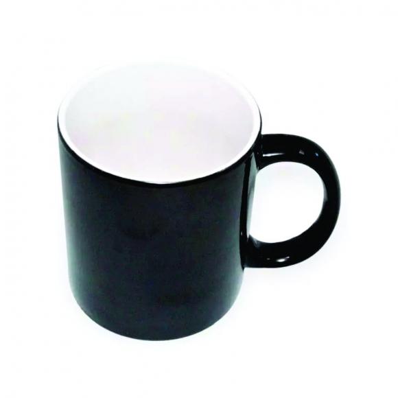 Caneca  Magica Preta de porcelana 325ml