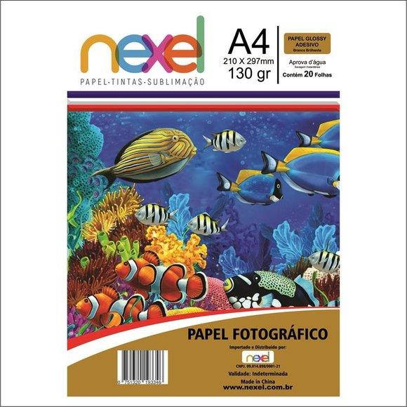 Papel Fotográfico Adesivo A4 130G C20F